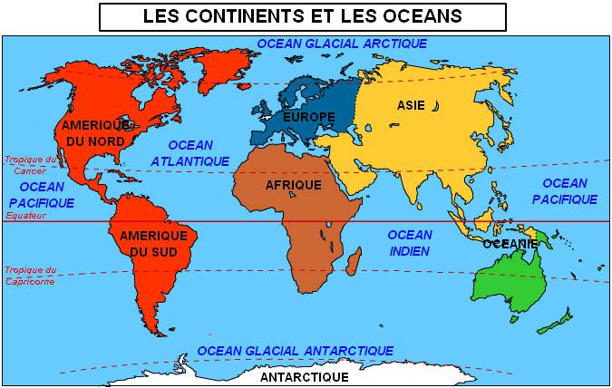 Fabuleux Les océans et les continents. - Gambetta CM 1CM2 SL74