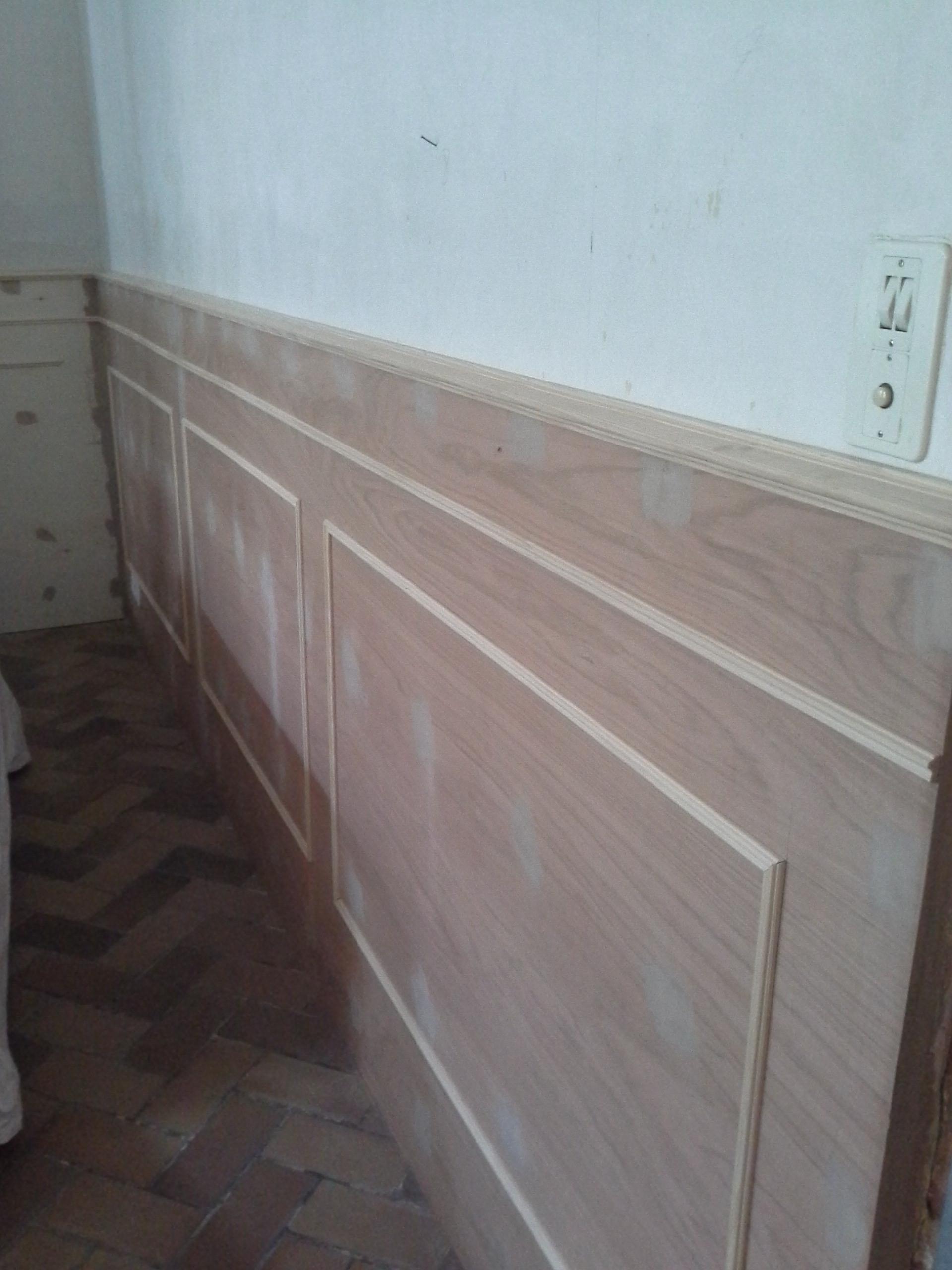 Comment Fabriquer Des Plinthes En Bois diy : soubassements faits maison - dans ma maison, il y a