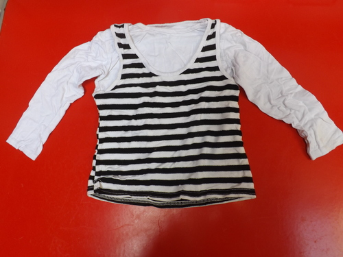 Maillot manches longues à rayures fille 8 ans