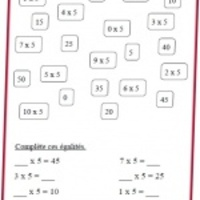 Exercices Tables De Multiplication La Classe De Mathalie