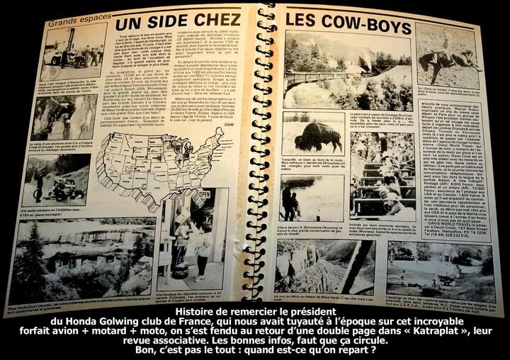 USA/3 - 1986: le centre et les Rocheuses en side-car