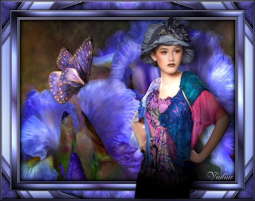 MES CREATIONS à mettre sur Monde Graphisme Creachou210219_Lady_flower