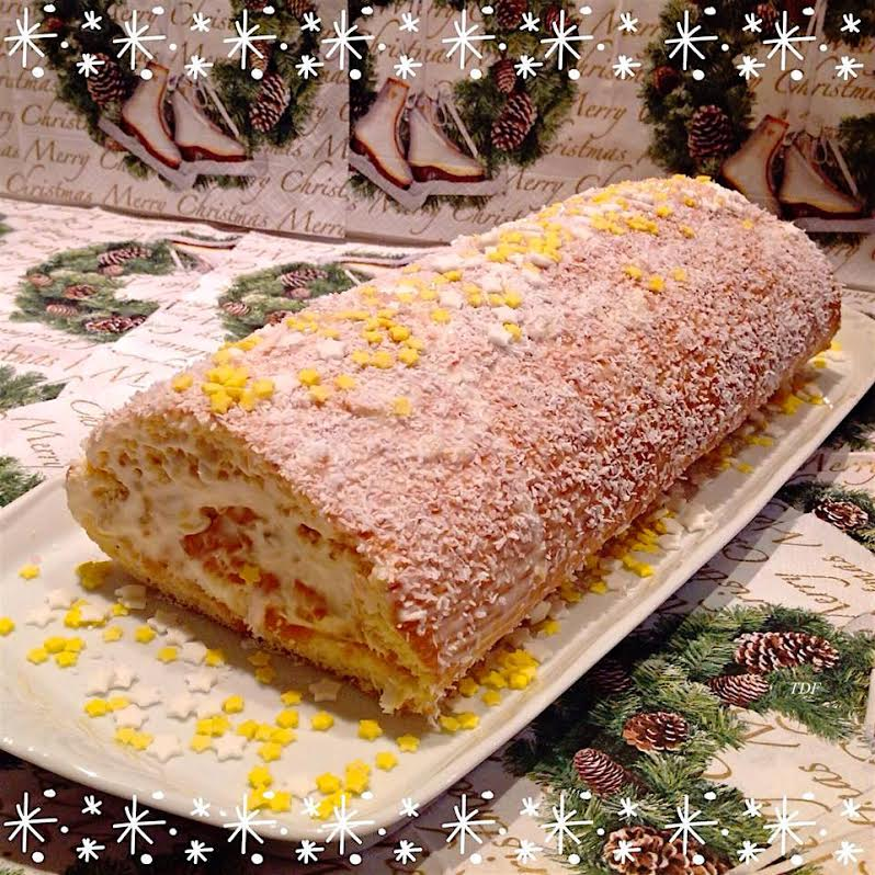 Buche roulee a l'ananas
