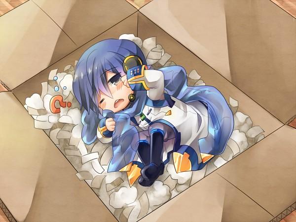 Tags: Anime, Shinyae, VOCALOID, KAITO, In a Box, V3, Wallpaper, Pixiv