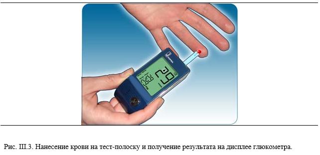 Забор крови на сахар глюкометром