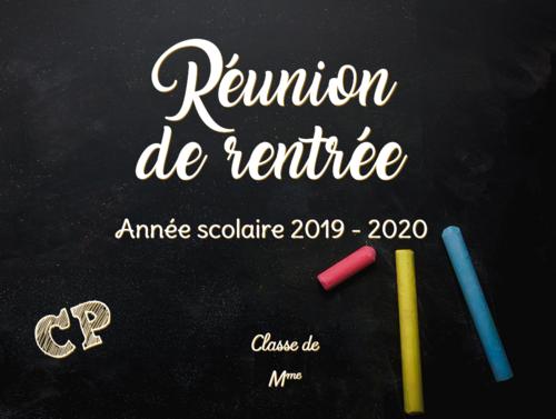 Réunion de rentrée 2019-2020