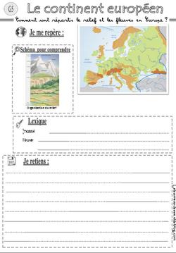 G5 Relief et fleuves européens