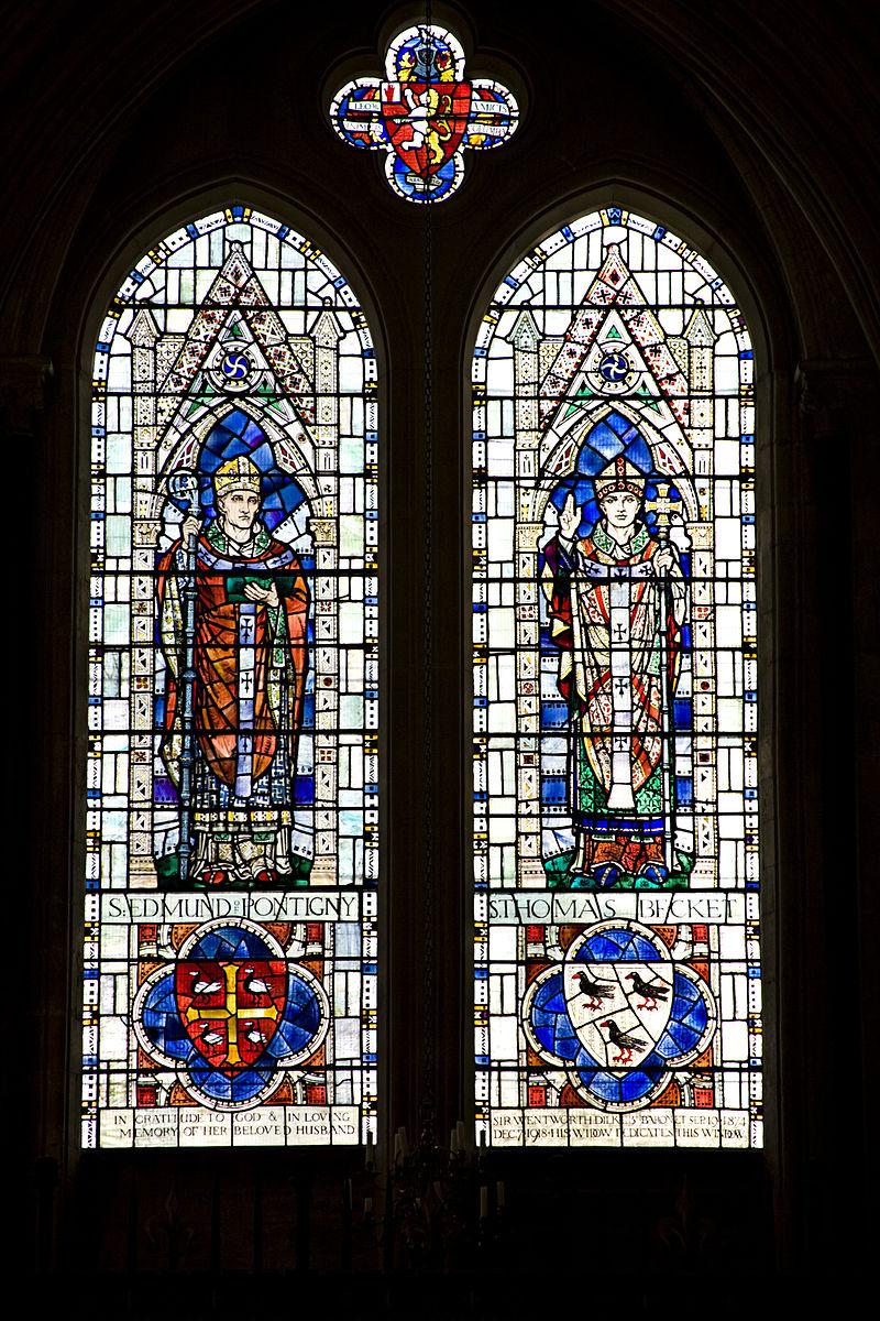 Vitrail de saints Edme et Thomas Becket
