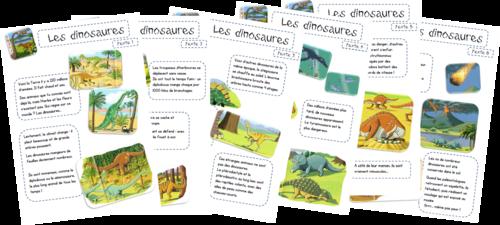 Les dinosaures - tapuscrit -