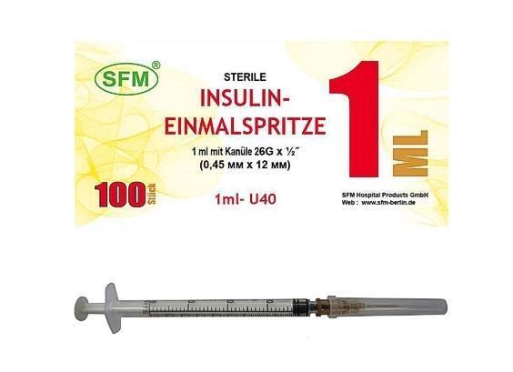 Инсулиновый шприц со съемной иглой в аптеке москвы