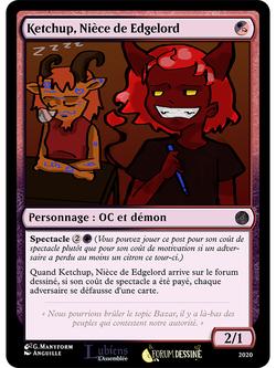 Projet de jeu de cartes sur le forum dessiné