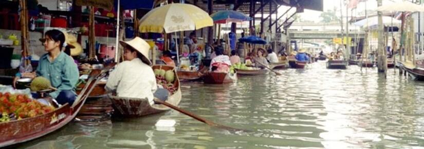 Marché flottant - Photo de brendan gogarty, de FreeImages