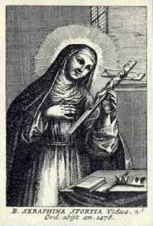 Bienheureuse Séraphine ou Sveva da Montefeltro. Pénitente, clarisse à Pesaro († 1478)