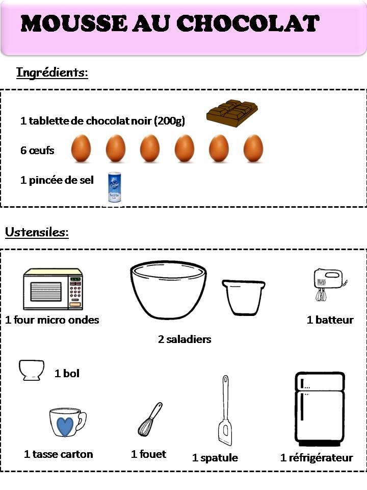 Fiche Recette Illustree Tarte Au Chocolat Dozier Family