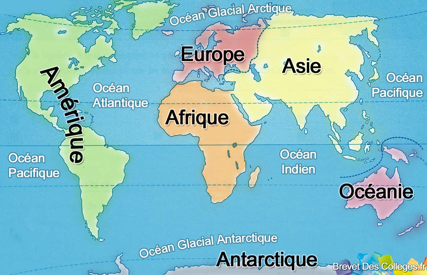 Personnes notables Les continents et les océans - une PE ordinaire UW07