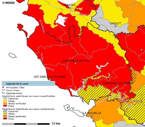 Sécheresse et restrictions d'eau en Vendée : une régulation incohérente et insuffisante