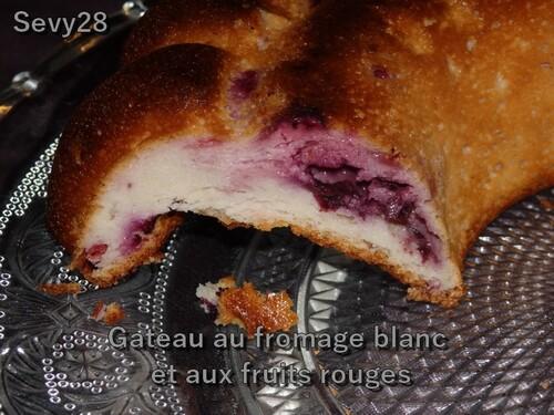 Gateau au fromage blanc et aux fruits rouges (Thermomix)