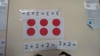Découverte de la multiplication (photos)