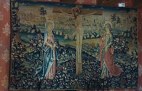 Château de Langeais - tapisserie christ en croix