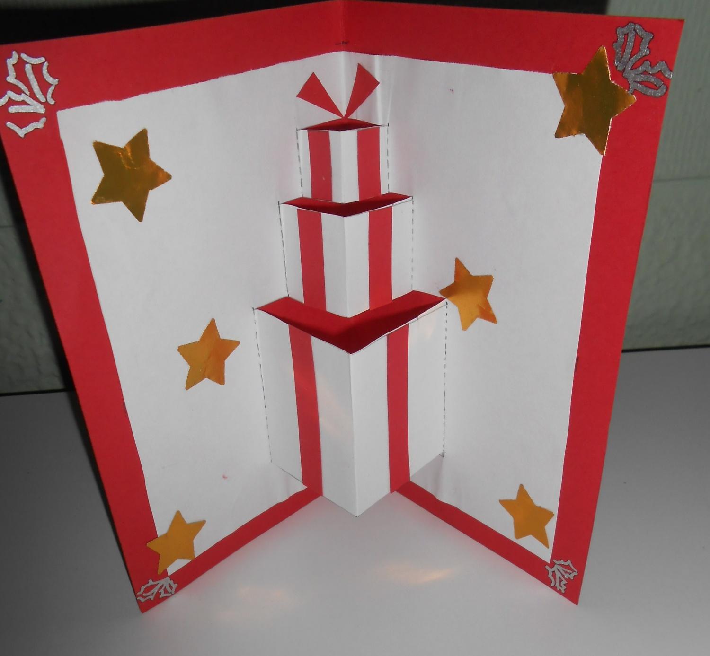 Carte pop up noel cadeau a imprimer