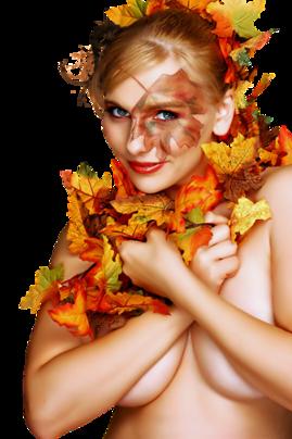 Tubes : Femme Automne