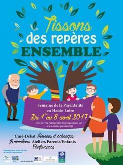 Semaine de la parentalité 2017 du 3 au 8 avril en Haute-Loire