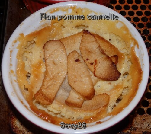 Flans pomme cannelle (thermomix)