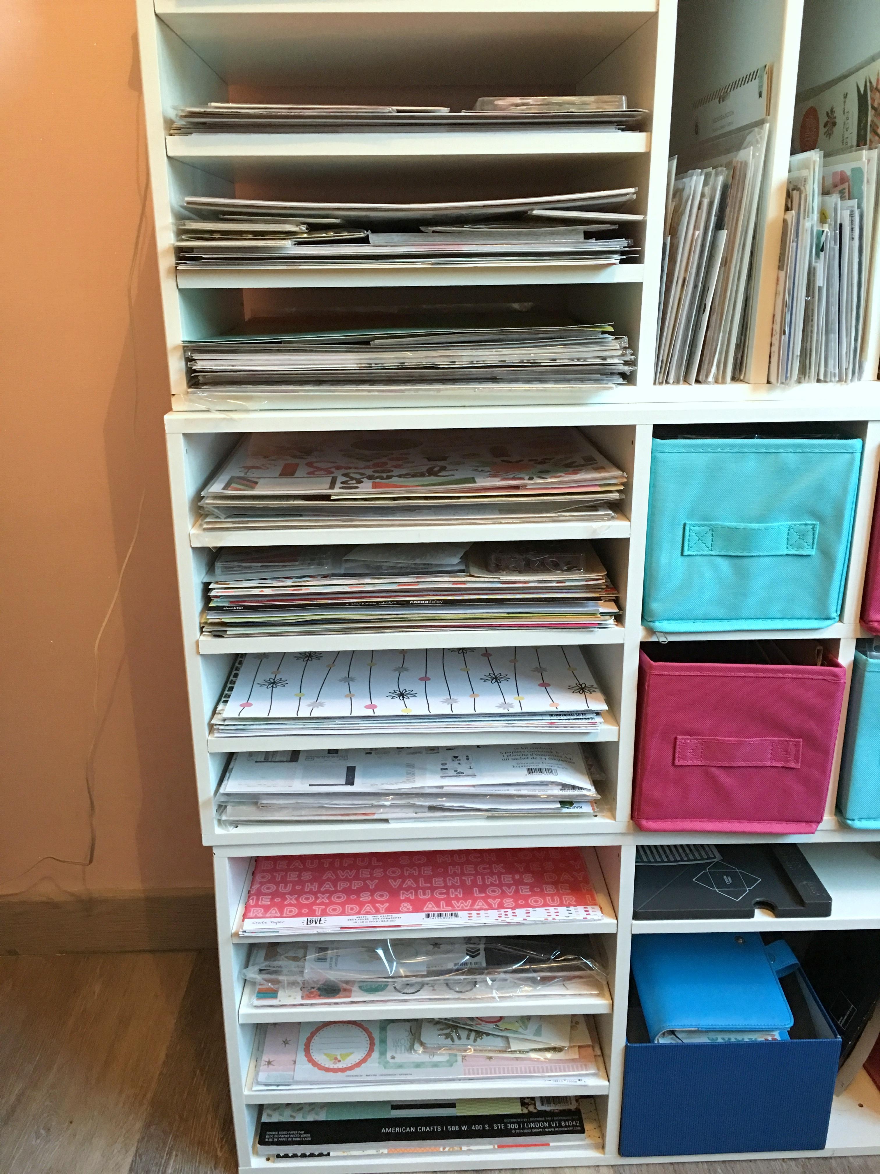 Meuble De Rangement Scrapbooking Pour Papiers 30x30 Pretty Little Things