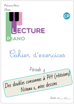 Cahier d'exercices Piano de la P4
