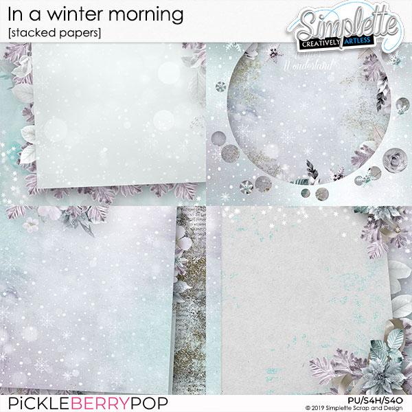 7 janvier 2020 : in a winter morning Simpl601