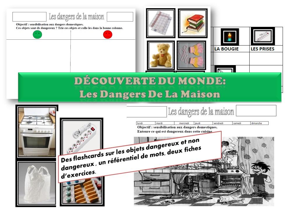Ideal MATERNELLE-MS GS-DECOUVERTE DU MONDE-les dangers domestiques  MI35